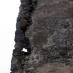 Stav nárožia hlavnej veže pred a po rekonštrukcii