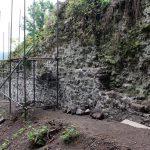 Opravené líce múru východnej hradby