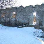 Zimný pohľad na severný palác po rekonštrukcii